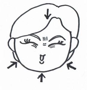 顔の体操1