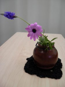 飾った花を写真で撮ってみました